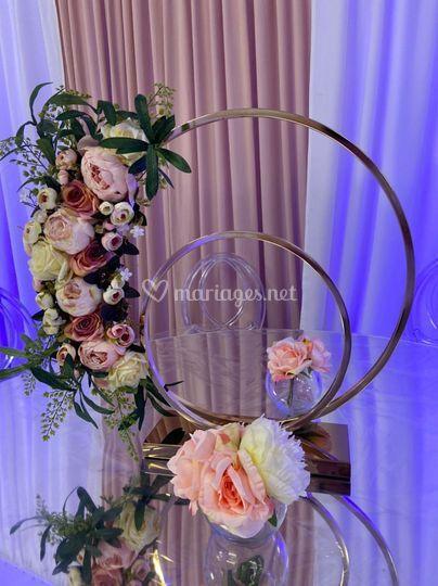 At'rc fleuri centre de table