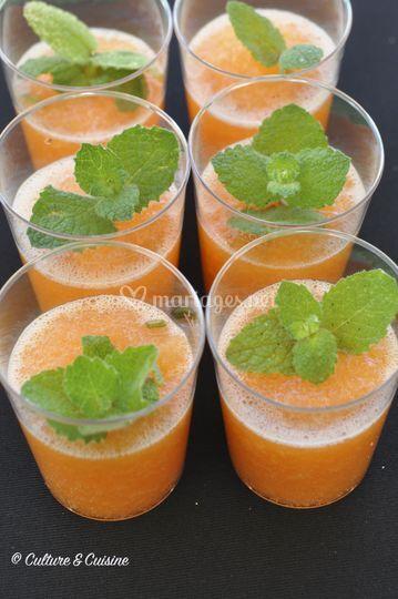 Gaspacho melon menthe
