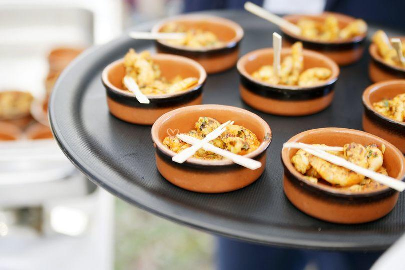 Crevettes fraîches épices Thaï