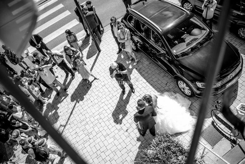 Arrivée de la mariée