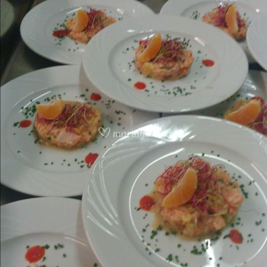 Assiettes saumon
