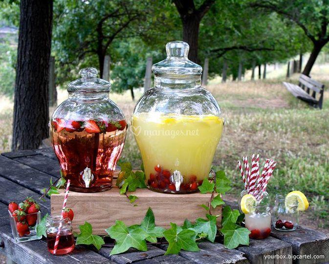 Vente de fontaine à limonade