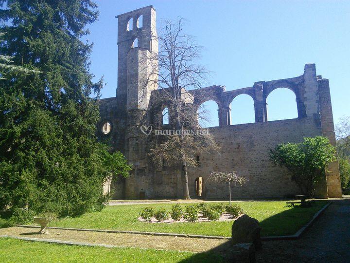 Abbaye vue du parc