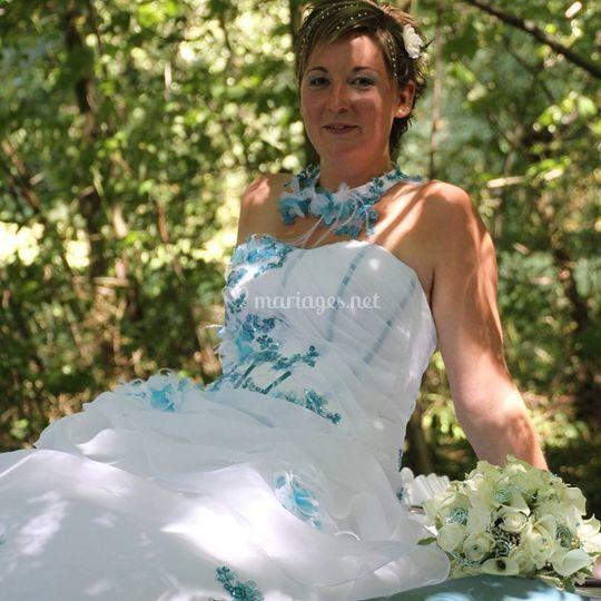 Maquillage mariée turquoise