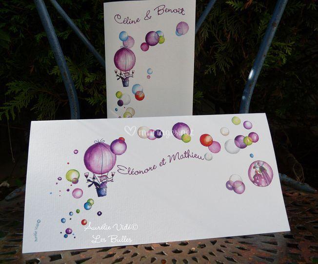 Les bulles violette