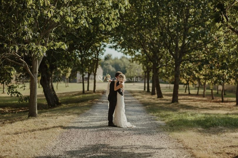 Photoshoot parc mariés