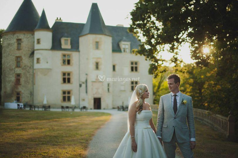 Photo devant chateau