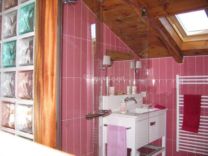 Salle de douche amarante