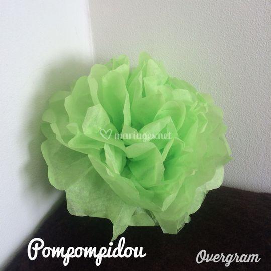 Pompon vert anis