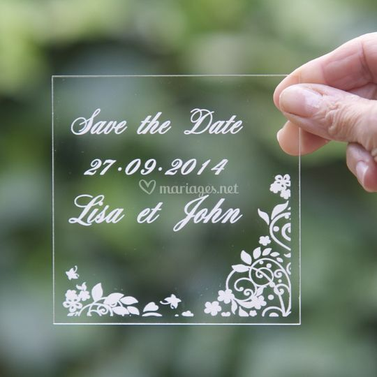 Save The Date Plexi gravé