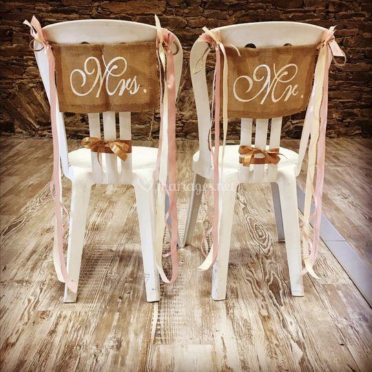 Chaises mariés personnalisées