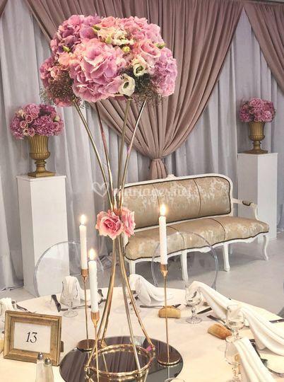 Gold & pink wedding