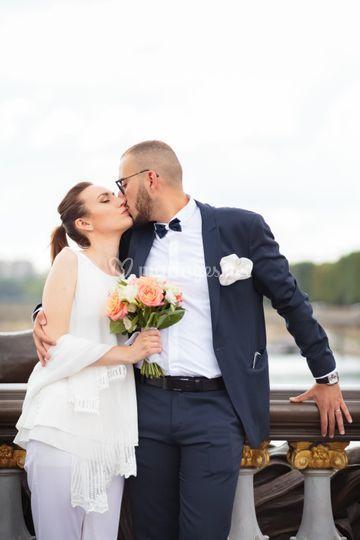 Mariage couple mariés