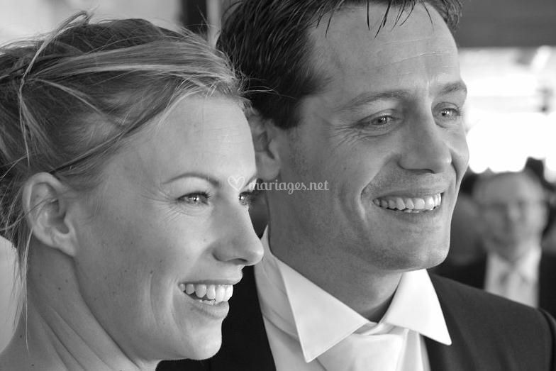 Sourire des mariés
