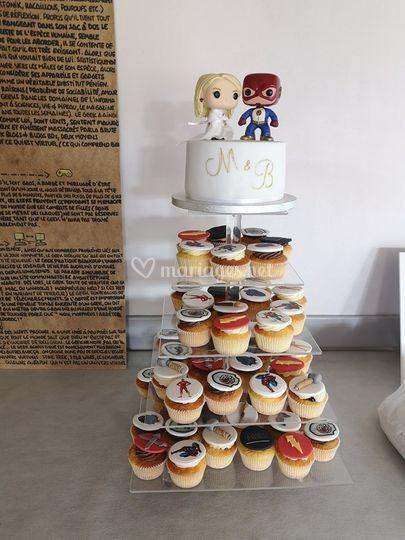 Pièce montée de cupcakes