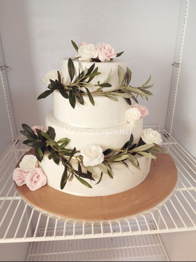 Wedding cake olivier et roses