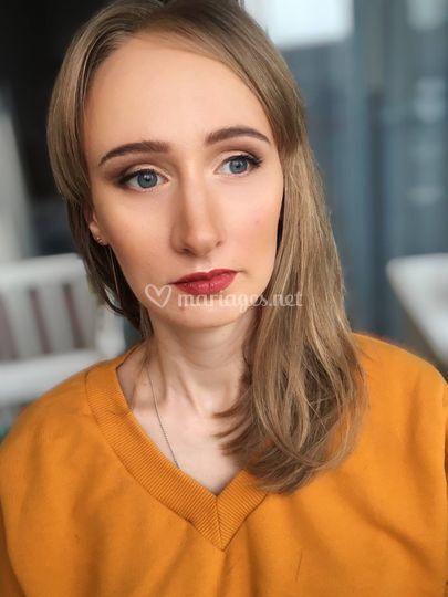 Maquillage de mariage (marron)