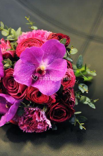 Bouquet de mariée fuchsia