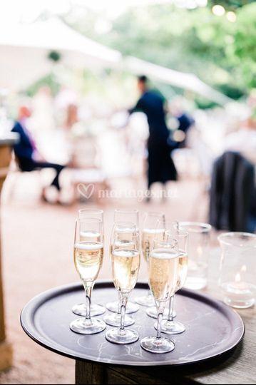 Champagne pendant un cocktail