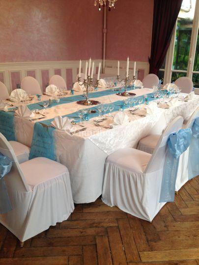 Salle Pavillon bleu clair