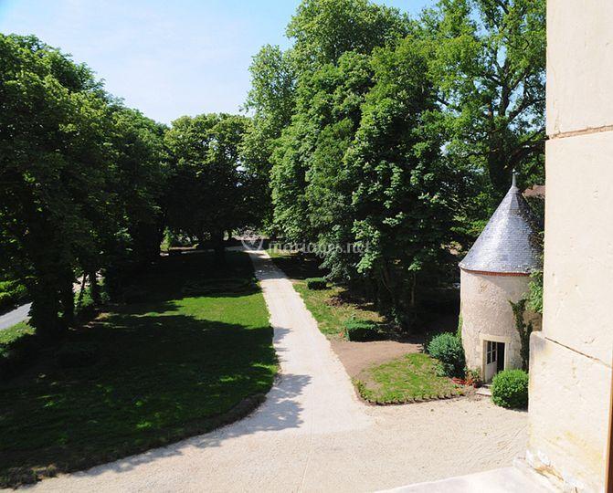 Parc avant Château