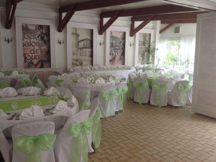 Salle Tourelle anniversaire vert