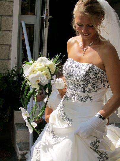 Bouquet de mariée mi-long