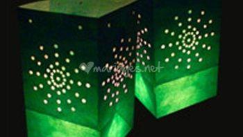 Décoration de mariage avec des lanternes chinoises