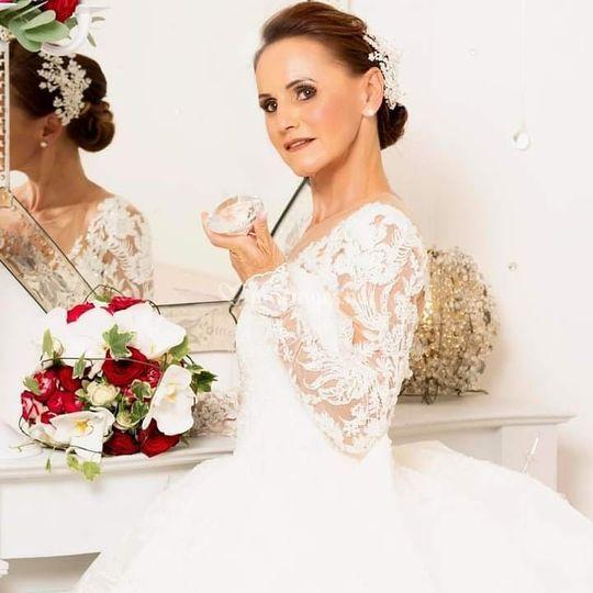 Mariage chic rouge blanc