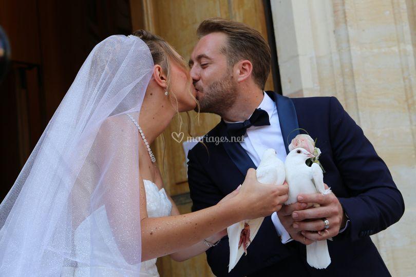Lâcher de colombe mariage