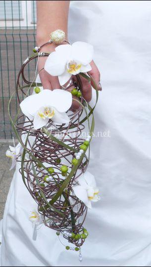 Structure bouquet de mariée