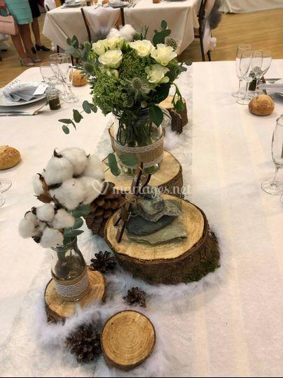Centre de table hiver