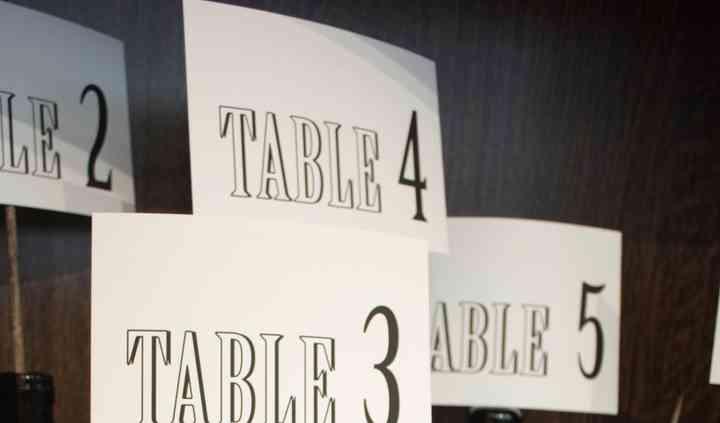 Plan de table Bistrot