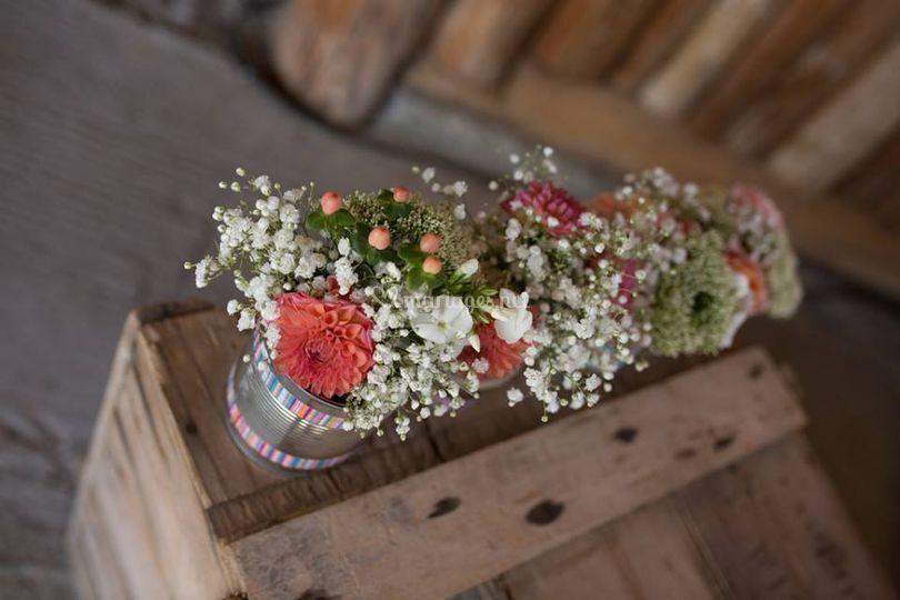 Décor extérieur fleuri