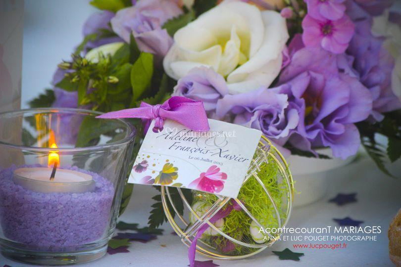 Mariage violet et prune