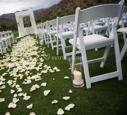 Chaises wedding