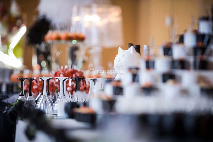 Dressage buffet mariage