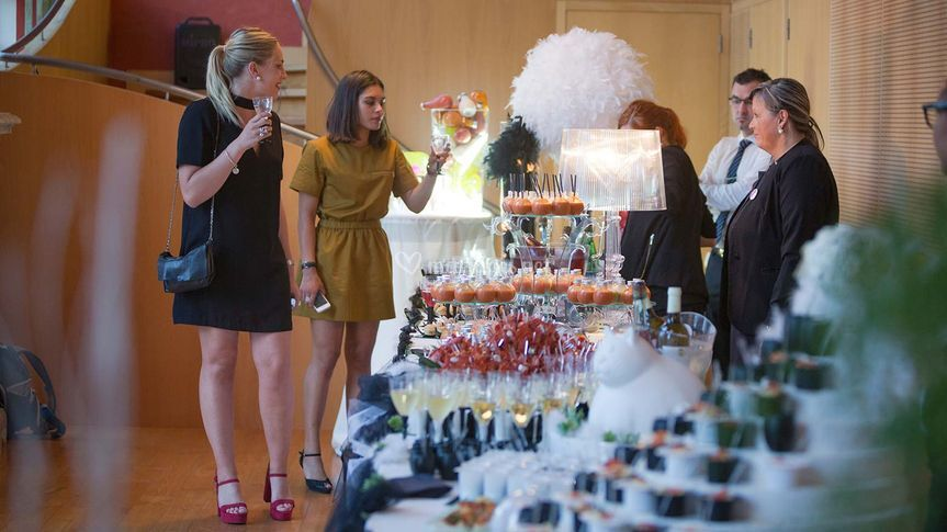 Reception buffet Mariage