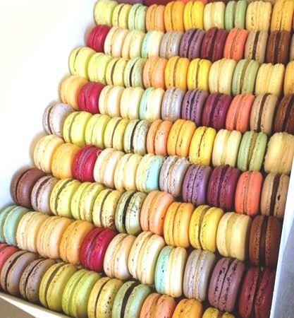 Assortiment de 100 macarons