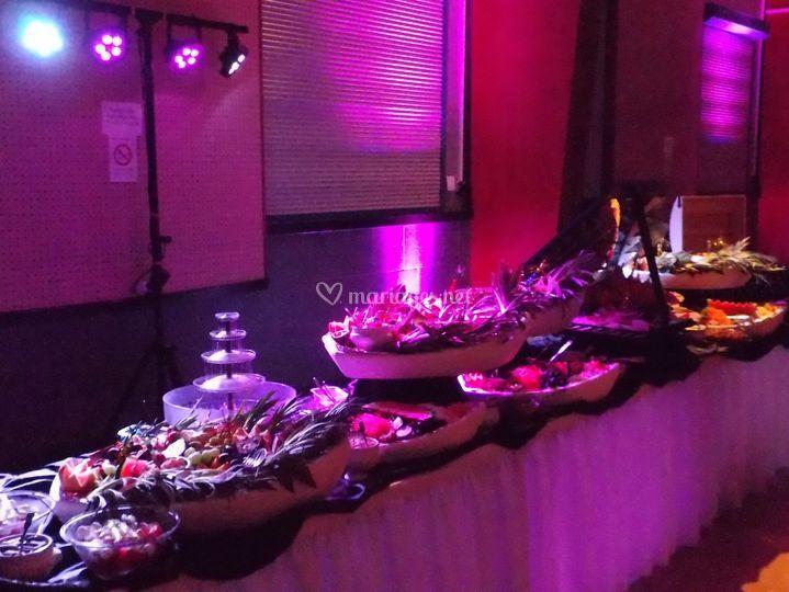 Éclairage buffet