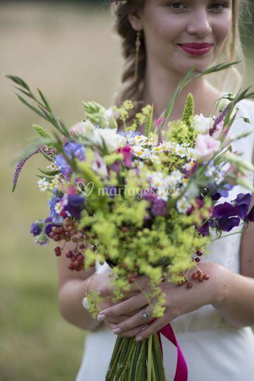 Bouquet bohème chic