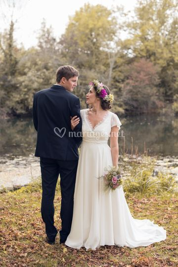 Un mariage bohème en automne
