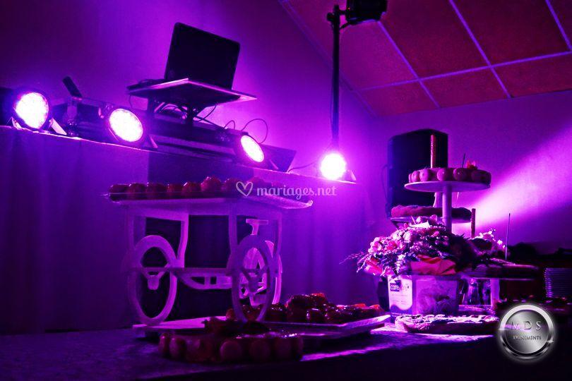 Buffet de dessert avec LED de MDS Evénements  Photos