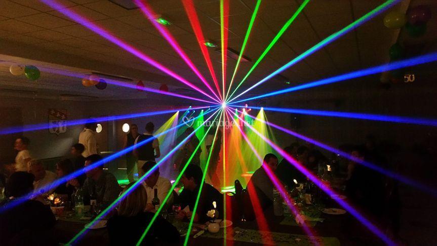 Laser en action