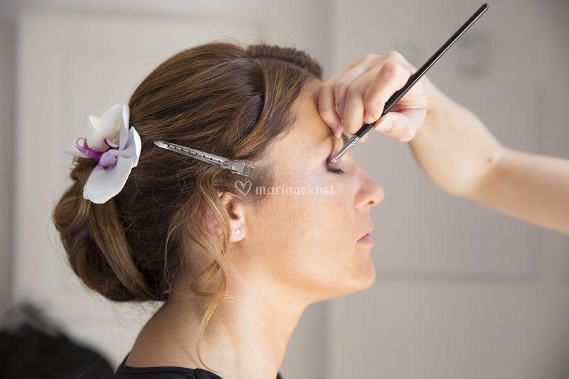 Backstage maquillage Myriam