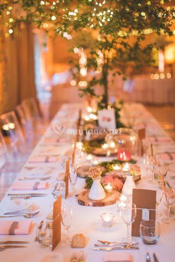 Table romantique.
