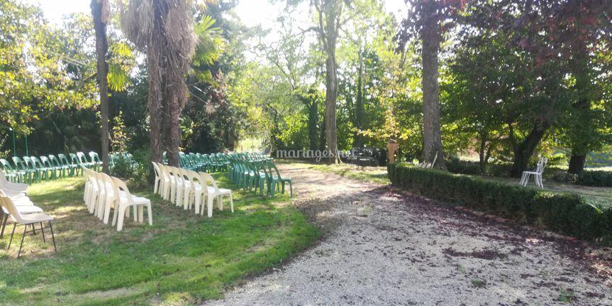 Le parc cérémonie laïque