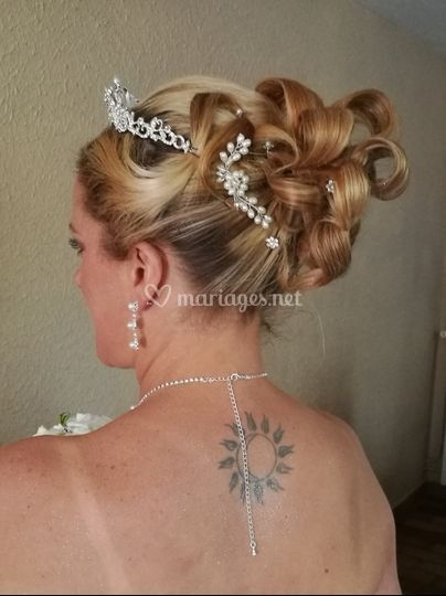 Chignon princesse mariée