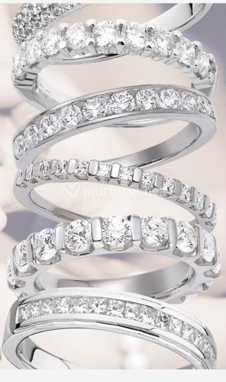 Différents sertis alliances diamants