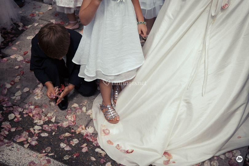 La robe et les enfants